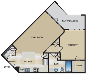 A5/A7 - One Bedroom / One Bath - 691-721 Sq. Ft.*